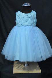 Lichtblauwe babyjurk Lisette