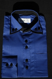 Italiaans overhemd kobaltblauw