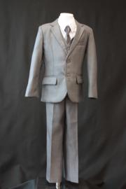 5-delig kostuum midden grijs