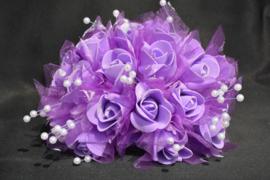 Paars rozenboeket