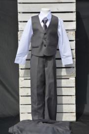 5-delig kostuum antraciet
