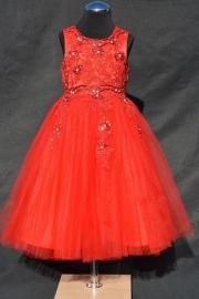 Rode jurk Melanie