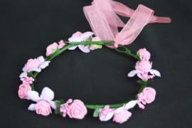 Bloemenkrans Rosa licht roze