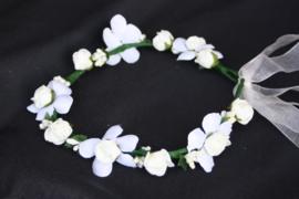 Bloemenkrans Rosa ivoor wit