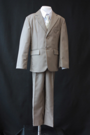 5-delig kostuum beige