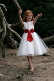 Ivoorwit/rode jurk Kelly