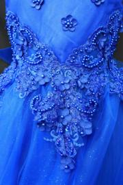 Jurk Ines koningsblauw