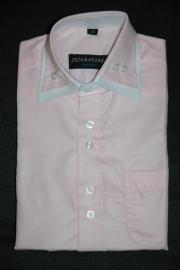 Italiaans overhemd lichtroze