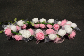 Bloemenkrans Lizzy roze