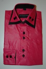 Italiaans overhemd fuchsia