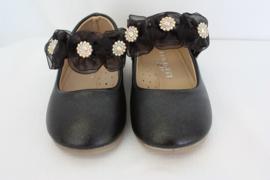 Bloemen ballerina zwart