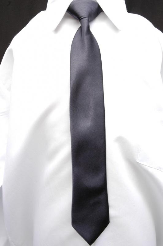 Donkergrijze stropdas