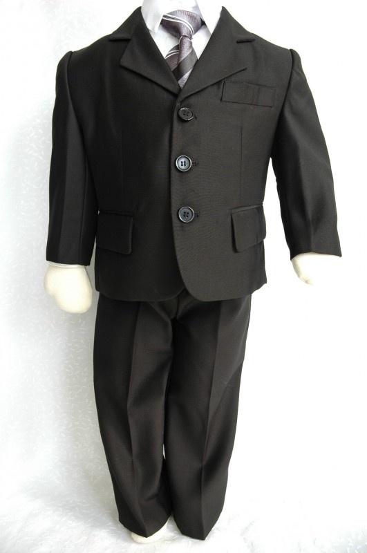5-delig kostuum zwart