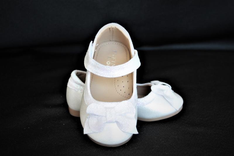 Strik ballerina ivoor wit