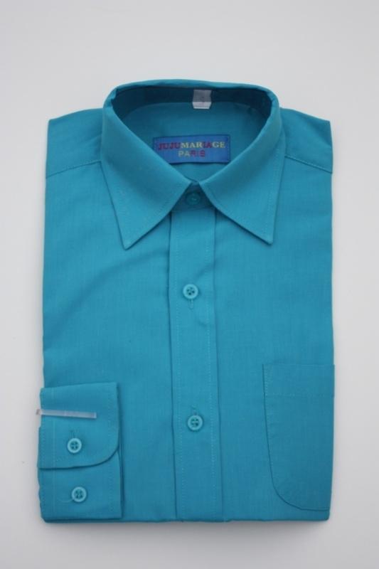 Overhemd aqua  blauw