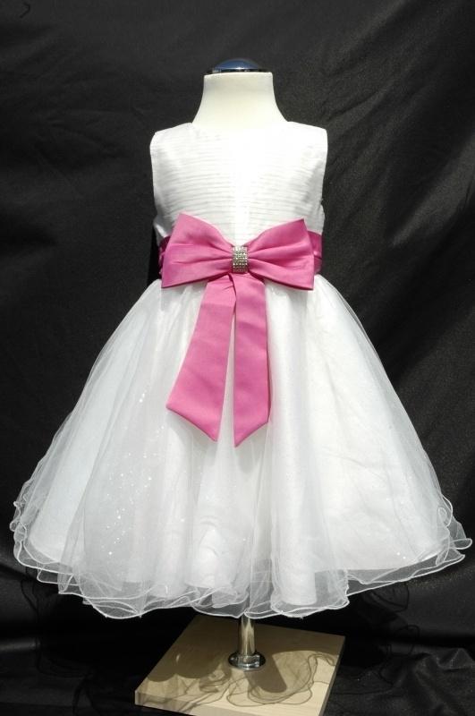 Ivoorwit/fuchsia jurk Kelly