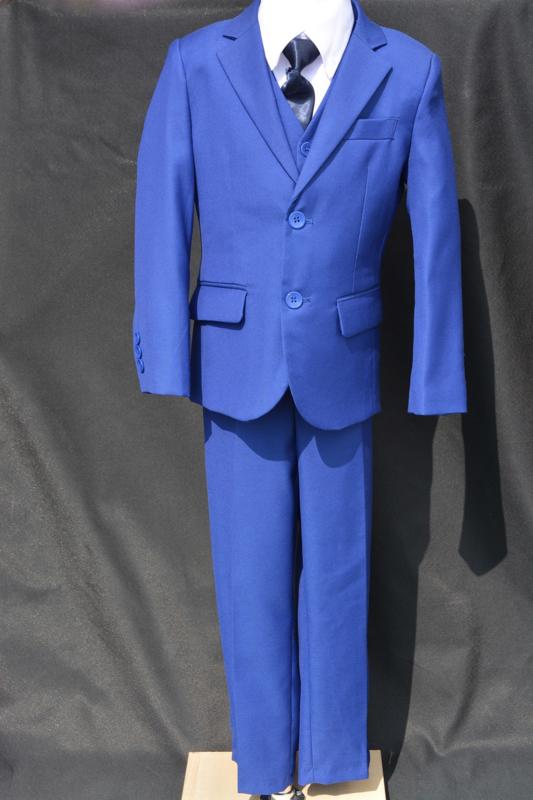 5-delig kostuum koningsblauw met vlinderdas