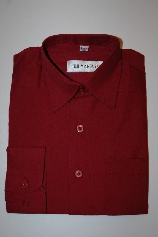 Overhemd bordeauxrood