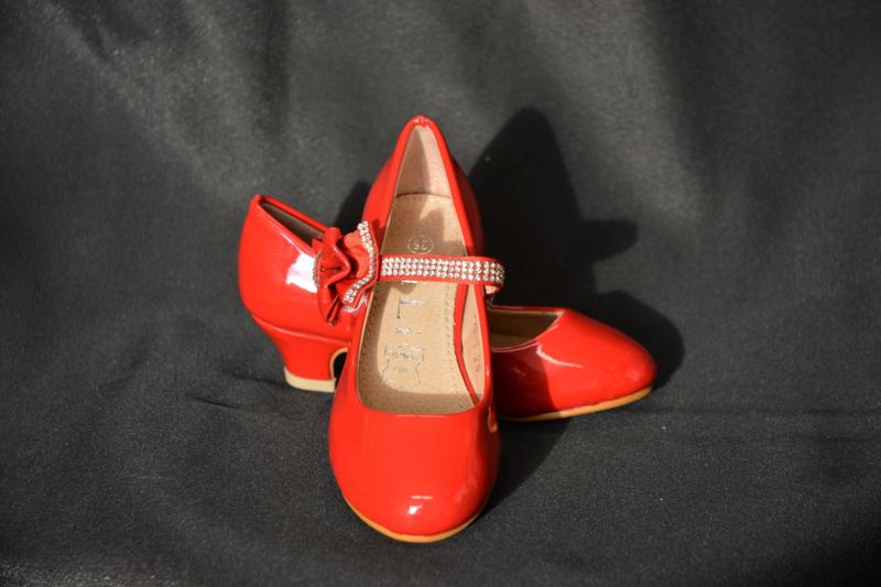 Strikjesschoen rood