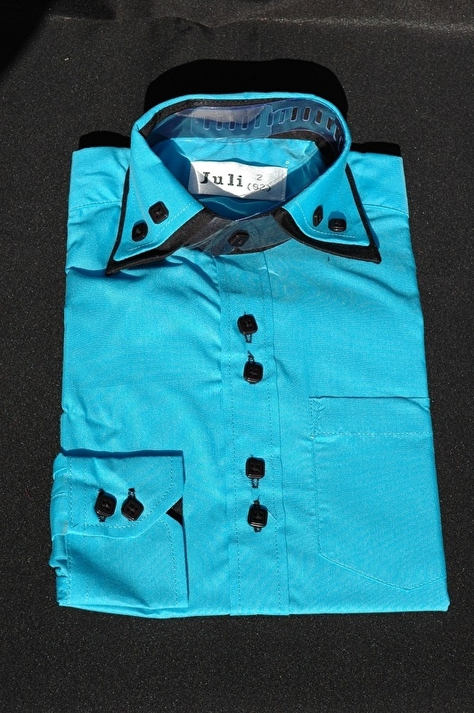 Italiaans overhemd blauw