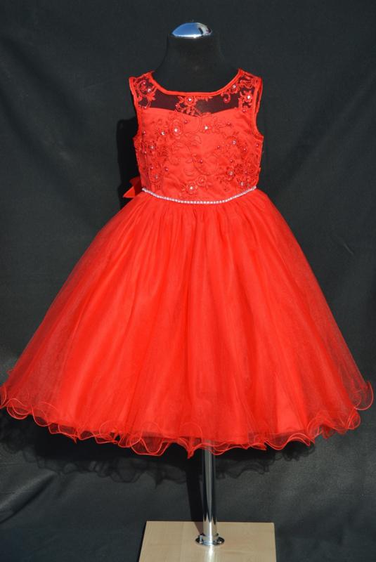 Rode jurk Estelle