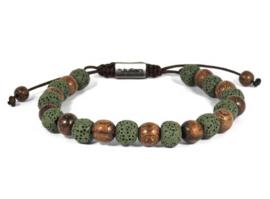 Heren Armband Batu Enam Kayu Groen 17-21 cm | By Julian