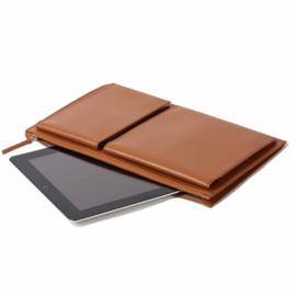 "Laptoptas 14"" Flat Gerecycled Leer Cognac LN2503M | LEXON"