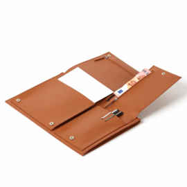 "Laptoptas Documentenmap 14"" Flat Gerecycled Leer Cognac LN2503M   LEXON"