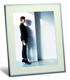 Fotolijst Shadow 20x25 verchroomd metaal | Philippi Design
