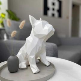 Sculptuur Franse Bulldog FRANK – Wit | Marokka Design