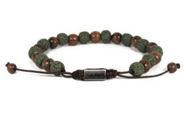 Heren Armband Batu Enam Kayu Groen 17-21 cm   By Julian