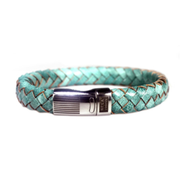 Heren Armband Turquoise Leder RVS | Bela Donaco Jewelry