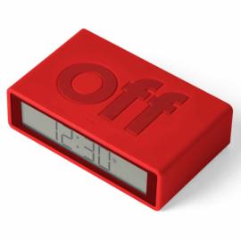 Omkeerbare LCD Wekker Flip+ Red – Radio Controlled LR150R9   LEXON