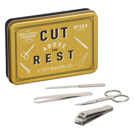Manicure set RVS 4-delig in blik | Gentlemen's Hardware