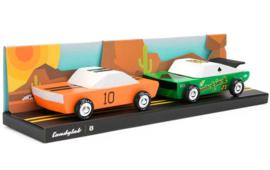 Candylab Toys | Mini Desert set 2-stuks - houten raceauto