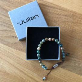 Heren Armband Batu Nane Groen 17-21 cm | By Julian