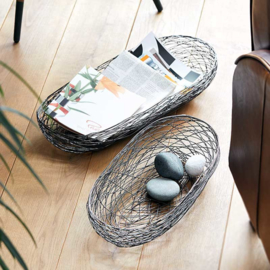 Draadmand NEST 2-delig RVS | Philippi Design