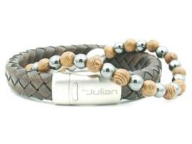 Heren Armband Enam Kayu Hematiet 18 cm | By Julian