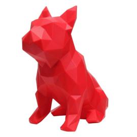 Sculptuur Franse Bulldog FRANK – Rood | Marokka Design