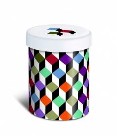 Voorraadpotje porselein REMEMBER - Cubic