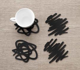 Onderzetters Siliconen Doodle 4-stuks | MoMA
