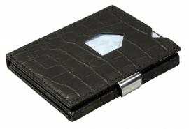 Exentri portemonnee - Zwart Croco
