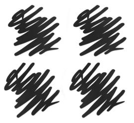 Onderzetters Siliconen Scratch 4-stuks | MoMA