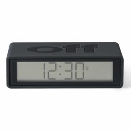 Flip+ Omkeerbare LCD Wekker - Dark Grey – Radio Controlled LR150NO | LEXON Design