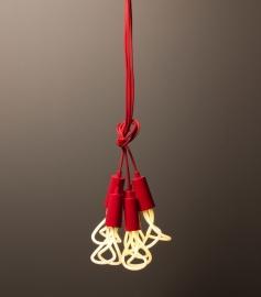 Hanglamp Plumen Drop Cap - Rood