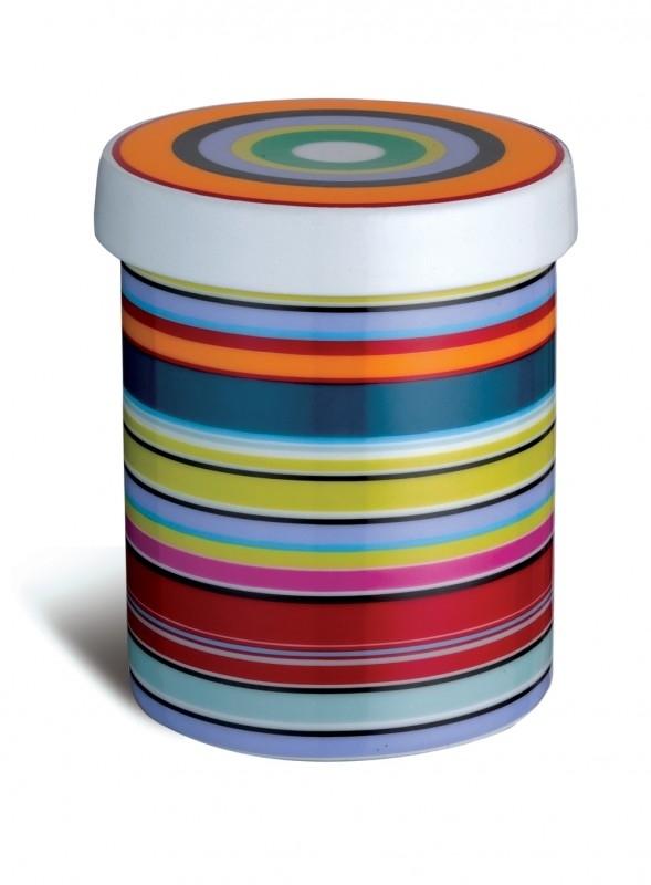 Voorraadpotje porselein REMEMBER - Stripes