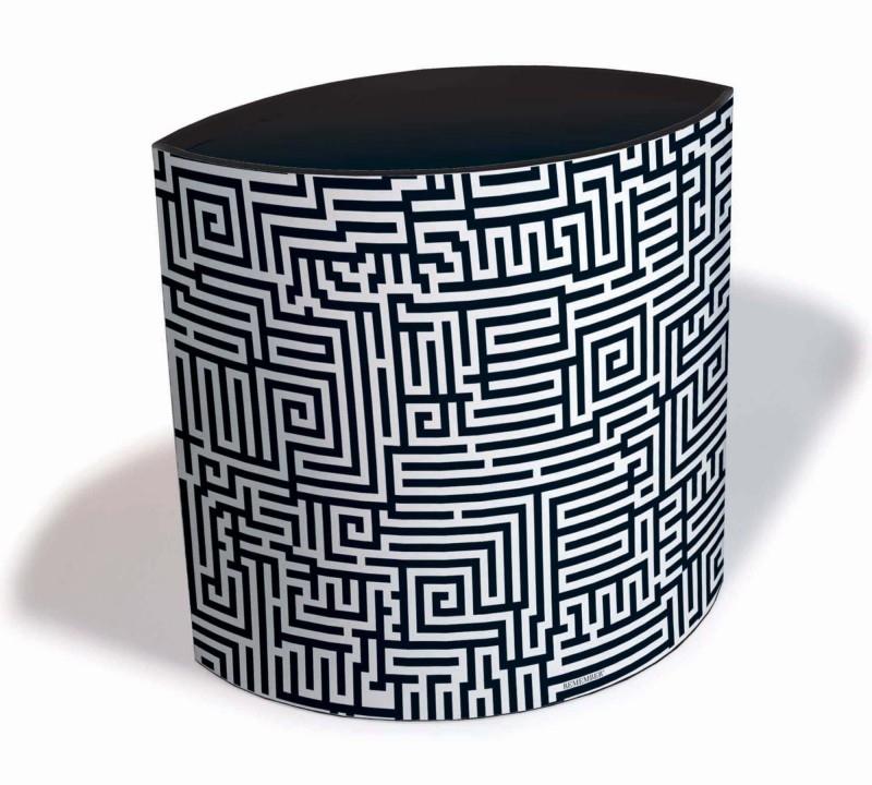 Prullenbak / lectuurbak Wasty - Labyrinth