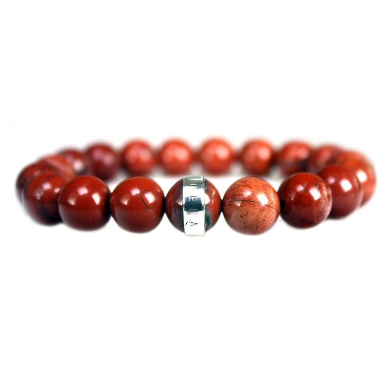 Heren Armband Redstone en Zilver | Bela Donaco Jewelry