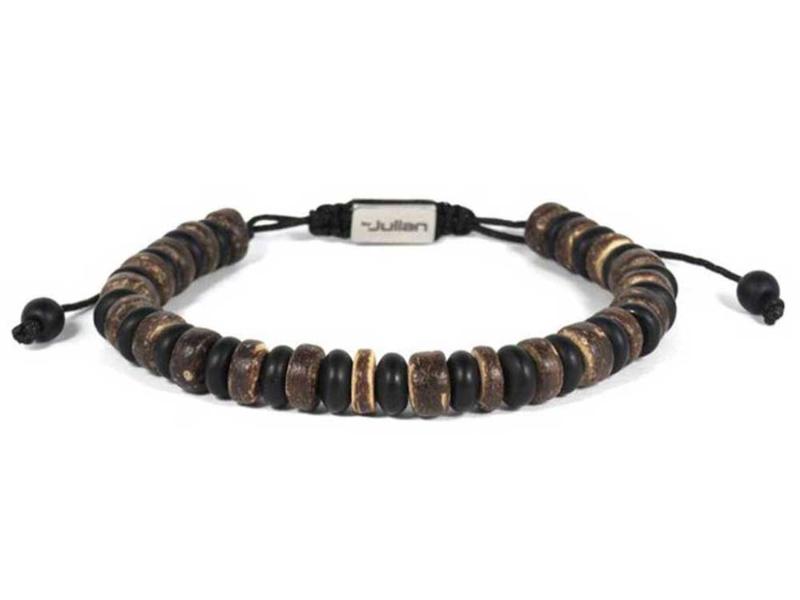 Heren Armband Batu Nane Onyx Kokos 17-21 cm | By Julian
