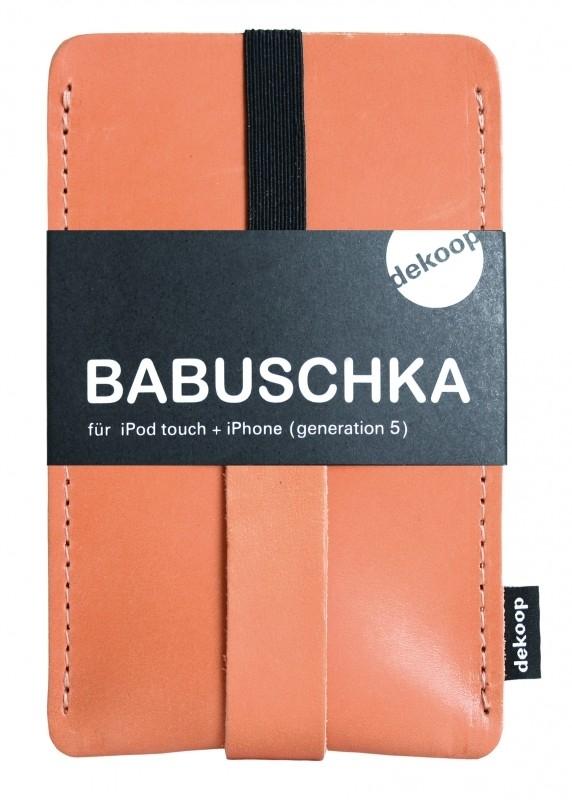 Babuschka iPhone / iPod hoesje leer - Gognac Caramel